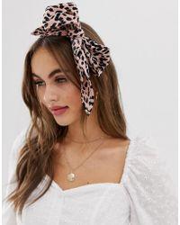 ASOS - Headscarf In Mini Leopard Print - Lyst
