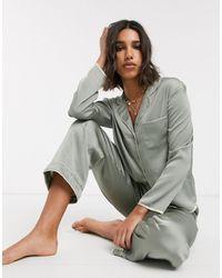TOPSHOP Camicia del pigiama - Grigio