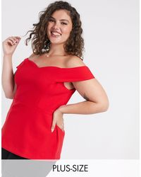 Simply Be Bardot Top - Red