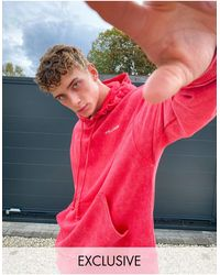 Collusion Oversized Hoodie - Red
