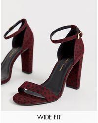 New Look Cheetah Block Heel - Red