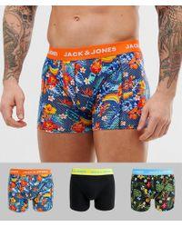 Jack & Jones - Lot de 3 boxers à fleurs - Lyst