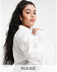 Missguided - Белая Поплиновая Рубашка С Объемными Рукавами -белый - Lyst
