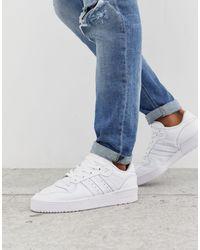 adidas Originals Белые Низкие Кроссовки - Белый