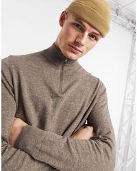 Burton – Hellbrauner Pullover mit kurzem Reißverschluss