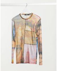 Jaded London Renaissance Cut And Sew Top - Multicolour
