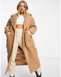UGG Бежевое Длинное Пальто В Стиле Oversized Hattie-бежевый - Естественный