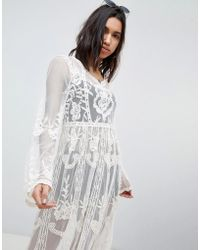 Missguided - Lace And Crochet Festival Dress - Lyst
