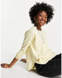 Vero Moda – Pullover mit Rundhalsausschnitt - Gelb