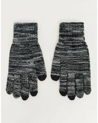 ASOS Gants pour écrans tactiles - Noir et blanc
