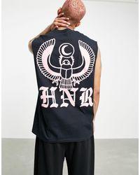 Honour Hnr ldn - débardeur avec imprimé aigle au dos - Noir