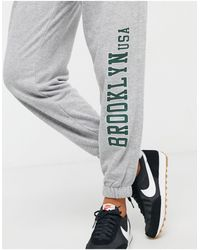 Bershka Brooklyn jogger - Gray