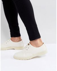 Dr. Martens - Delray Overdyed 3-eye Shoes In Stone - Lyst
