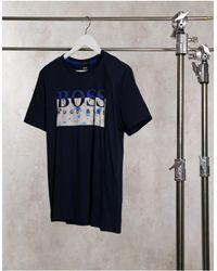 BOSS by Hugo Boss - Темно-синяя Футболка С Крупным Логотипом Thady 1-темно-синий - Lyst