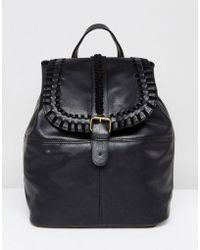 Liquorish - Plait Detail Backpack - Lyst