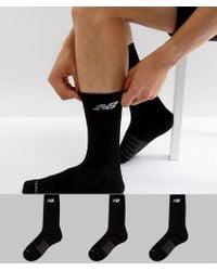 New Balance - 3 Pack Crew Socks In Black N5050-801-3eu Blk - Lyst