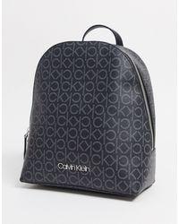 Calvin Klein Черный Рюкзак С Монограммой