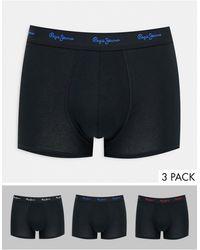 Pepe Jeans Albor 3 Pack Trunks - Black