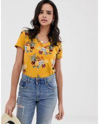 Esprit Leaf Print T Shirt - Multicolour