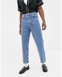 ASOS Jeans vintage blu medio slavato a vita alta
