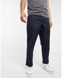 Farah Hawtin Cropped Fine Twill Trousers - Blue