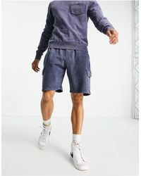 Another Influence Jersey Utility Shorts Co-ord - Blue