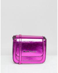 Claudia Canova - Pink Metallic Cross Body Bag - Lyst