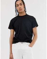 Weekday Alan - T-shirt nera - Nero