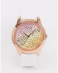 Guess Horloge Met Veelkleurige Wijzerplaat - Wit
