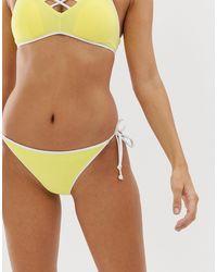 DORINA Плавки Бикини Лимонного Цвета С Белой Окантовкой И Завязками По Бокам Bora Bora-многоцветный