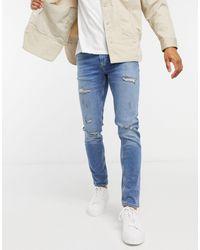 River Island Skinny Jeans - Blauw