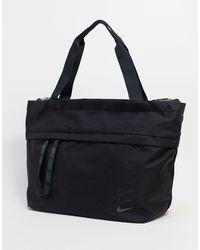Nike Maxi borsa nera con logo oversize - Nero