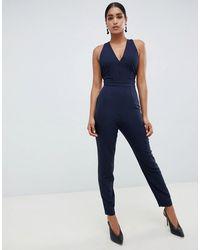 Vesper - Open Back Tailored Jumpsuit - Lyst