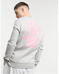 Friend or Faux Island Disk Sweatshirt - Grey