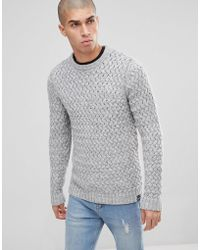 PLUS Knitted Jumper With Textured Weave - Medium grey Only & Sons Really Cheap Shoes Online Geniue Stockist Cheap Price Buy Cheap Cost 100% Guaranteed Ds39m0d89h
