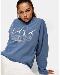 TOPSHOP – Energy – Sweatshirt - Blau