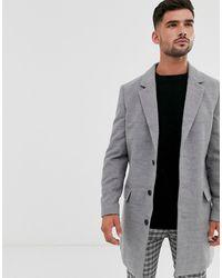 New Look Overcoat In Grey - Gray
