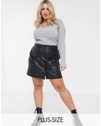 Simply Be Pu Mini Skirt - Black