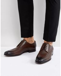 BOSS - Boss Hanover Derby Shoes In Brown - Lyst