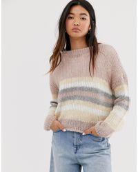 ONLY – Strickpullover in gestreift - Mehrfarbig