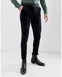 ASOS – Superenge Hose aus schwarzem Samt