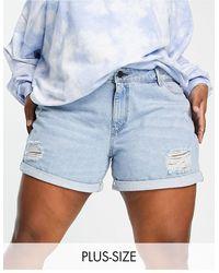 Noisy May Shorts vaqueros mom - Azul