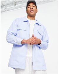 Mennace Aftermath Double Pocket Denim Shirt - Blue