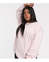 ASOS - Extra Oversized Lichtgewicht Sweater Met Zijsplits In Lila - Lyst