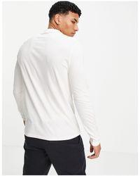 ASOS – Langärmliges Shirt mit Rundhalsausschnitt - Weiß