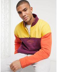 Hi-Tec Half Zip Pullover Sweat - Purple