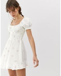 Cleobella Belinda - Vestitino ricamato - Bianco