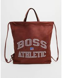 BOSS by HUGO BOSS X Russell Athletic Varsity Duffle Bag - Brown