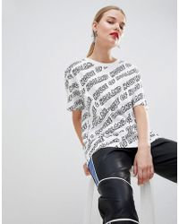 House of Holland - Branded Oversized Boyfriend T-shirt - Lyst