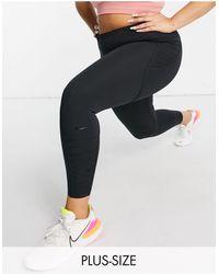 Nike - Черные Леггинсы Длиной 7/8 Plus One Luxe-черный Цвет - Lyst